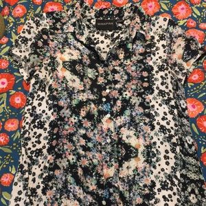 Urban Outfitters minkpink button down floral shirt